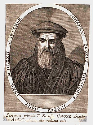John Knox - John Knox portrait bearing the date 1572