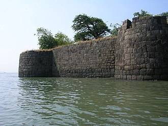 Kolaba Fort - Image: Kolaba fort east side