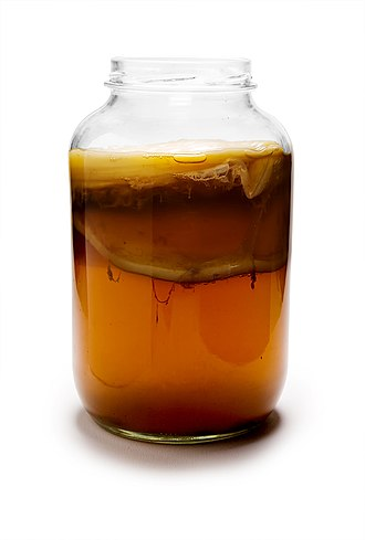 Kombucha - Kombucha, including the culture of bacteria and yeast