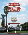 The KONA LANES BOWL roadside sign in 2002