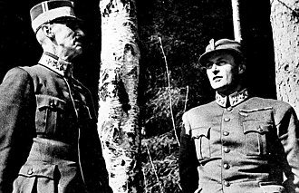 German occupation of Norway - King Haakon and crown prince Olav seeking refuge as the German Luftwaffe bombs Molde, April 1940.