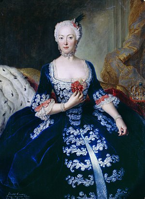 Elisabeth Christine of Brunswick-Wolfenbüttel-Bevern - Queen Elisabeth Christine in c. 1739 by Antoine Pesne