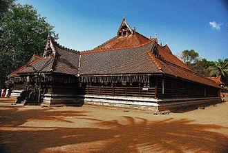 Kerala Kalamandalam - A view of Koothambalam at Kerala Kalamandalam.