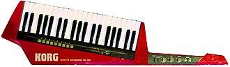 Keytar - Korg RK-100 (1984) MIDI remote controller