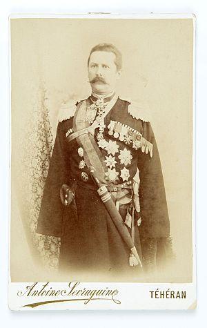 Vladimir Kossogovsky - Kossogovski in 1900, Teheran. Pictured by Antoin Sevruguin.