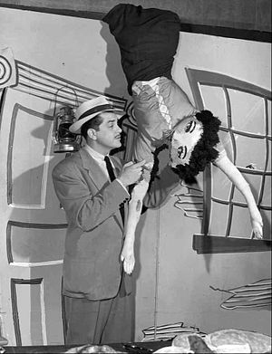 Ernie Kovacs - Kovacs and Gertrude on Three to Get Ready, 1951. Gertrude was one of the donations of Kovacs's viewers when he asked them to bring anything they no longer wanted to the WPTZ-TV lobby.