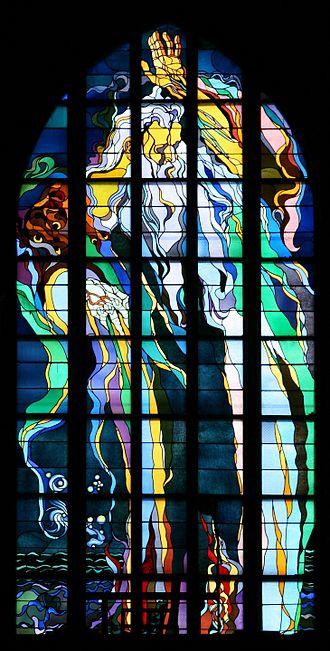 Stanisław Wyspiański - Stained-glass window in Franciscan Church, designed by Wyspiański