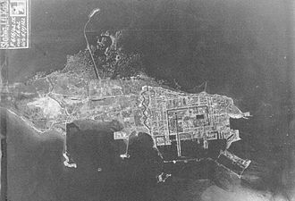Kronstadt - German aerial reconnaissance shot of Kronstadt, 1 June 1942