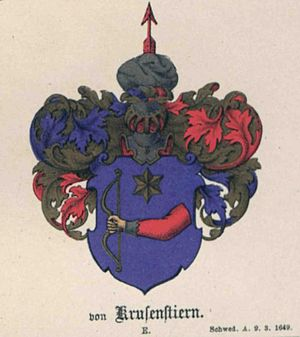 Adam Johann von Krusenstern - Krusenstern family coat of arms