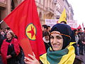 Kurdish protests against Kobane siege in Bologna-Italy.JPG