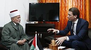Muhammad Ahmad Hussein - Grand Mufti Muhammad Ahmad Hussein in a meeting with Austrian foreign minister Sebastian Kurz