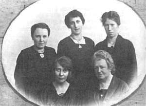 Hanna Adolfsen - Hanna Adolfsen (bottom right) with colleagues Klara Bakken, Helga Karlsen, Thina Thorleifsen and Sigrid Syvertsen