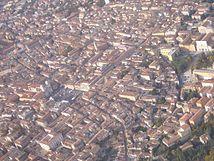 Veduta aerea del centro dell'Aquila
