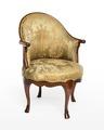 Länstol av bergère-typ, 1700-talets mitt - Hallwylska museet - 110047.tif