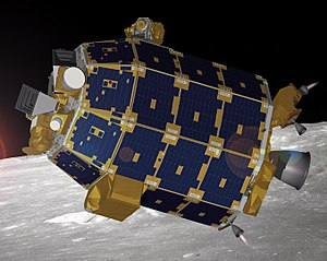 Lunar Atmosphere and Dust Environment Explorer - Artist's depiction of LADEE in lunar orbit