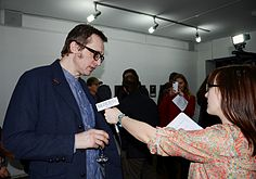 LOGOSES - Exhibition by Konstantin Selikhanov 6.03.2014 Ў gallery Minsk BELSAT.JPG