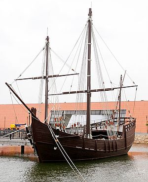 Moguer - Replica of the caravel Niña, which belonged to the Niño brothers of Moguer.