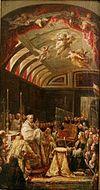 La Adoración de la Sagrada Forma por Carlos II de España (Museo de Jaén).JPG