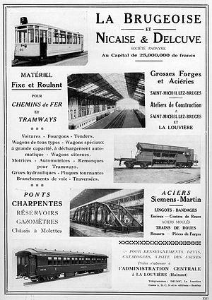 La Brugeoise et Nivelles - Image: La Brugeoise adv