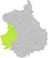 La Gaudaine (Eure-et-Loir) dans son Arrondissement.png