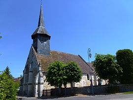 The church of Saint-Aignan in La Houssaye
