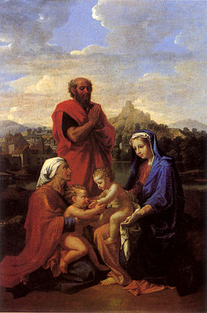 The Holy Family with Saint John Saint Elizabeth and Saint Joseph Praying