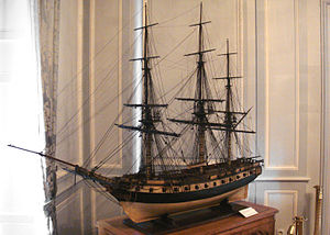 France–Vietnam relations - Frigate Thétis, 1813 model. Musée National de la Marine (Rochefort).