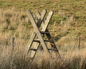 Stile - Image: Ladder stile Snowdonia