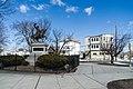 Lafayette statue wide view, Lafayette Park, Fall River, Massachusetts.jpg