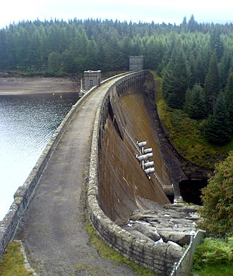 Renewable energy in Scotland - A typical Highland hydro-electric dam at Loch Laggan