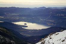 Il Lago d'Orta visto dal Mottarone