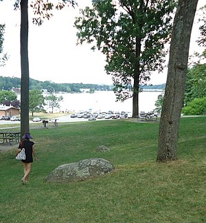 Lake Hopatcong - View of the lake from the picnic area at the state park.