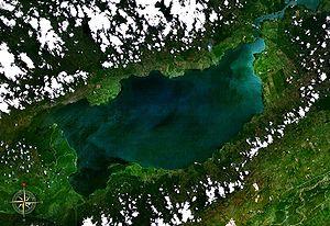Franja Transversal del Norte - Izabal Lake in Guatemala.  Originally, was the east border of the Northern Transversal Strip.