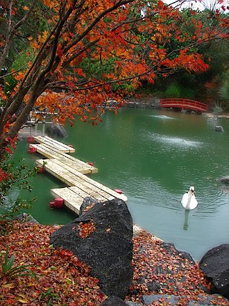 Auburn Botanic Gardens - Image: Lake in Auburn Botanical Gardens