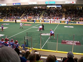 Peterborough Lakers (MSL) - Centre Floor of the PMC during a Lakers home game