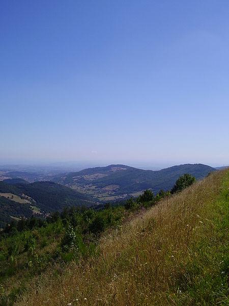 Lalouvesc - vue vers le Nord depuis la route de Saint-Félicien