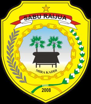 Sabu Raijua Regency - Image: Lambang Kabupaten Sabu Raijua