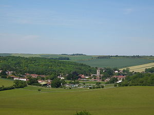 Lambourn - Lambourn and Lynch Wood from Hungerford Hill