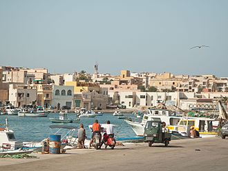Lampedusa - View of the town of Lampedusa