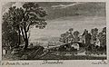Landscape with a bridge; representing winter. Etching by G. Wellcome V0007629EBR.jpg