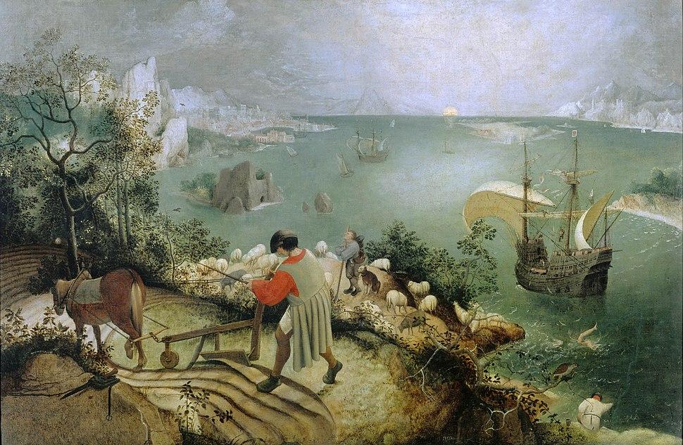 Landschaft mit Sturz des Ikarus Pieter Breughel d Ä