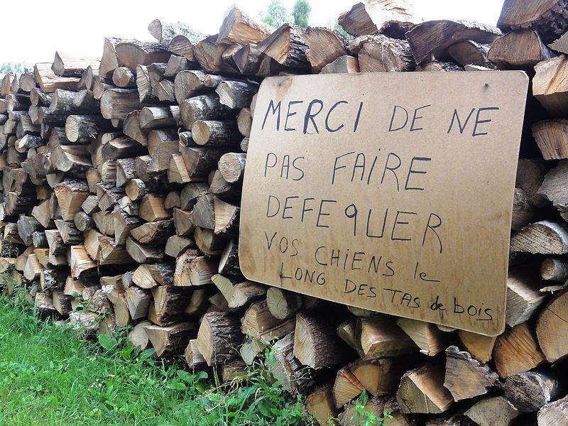 Laneuville-au-Rupt (Meurthe-et-M.) Dogs defecating prohibition sign