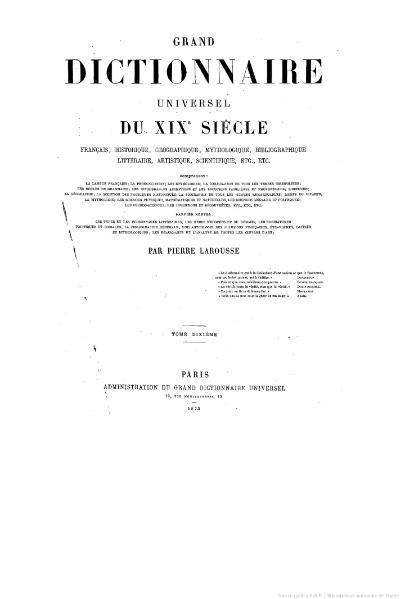 File:Larousse - Grand dictionnaire universel du XIXe siècle - Tome 10, part. 1, L-Leo.djvu