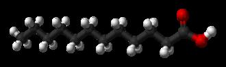 Lauric acid - Image: Lauric acid 3D balls