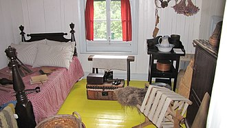 Wilfrid Laurier - Bedroom at Sir Wilfrid Laurier National Historic Site, Saint-Lin-Laurentides, Quebec