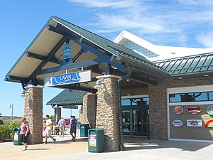 Conewago Township, Dauphin County, Pennsylvania - Lawn Rest Stop on the Pennsylvania Turnpike