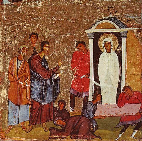 Воскрешение Лазаря (икона, XII век, монастырь Святой Екатерины)