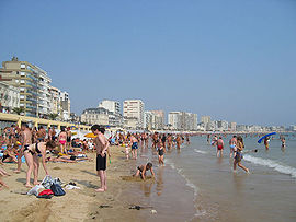 The beach at Les Sables-d'Olonne