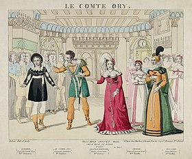 Isolier, Ory, Adèle and Ragonde, in Le comte Ory (Source: Wikimedia)