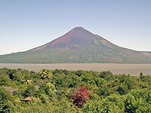 Der Momotombo-Vulkan